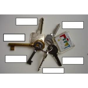 cles maison, voiture, meubles, porte garage ...